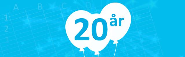 Nyhetsbrev - Excelspecialisten fyller 20 år! Excel, tävlingar, seminarium, events och mycket mer