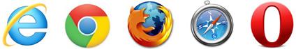 XLTime är kompatibelt med följande webbläsare Internet Explorer, Google Chrome, Firefox, Safari, Opera