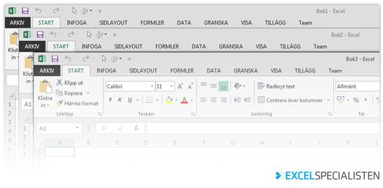Exceltips, flera fönster i Excel 2013